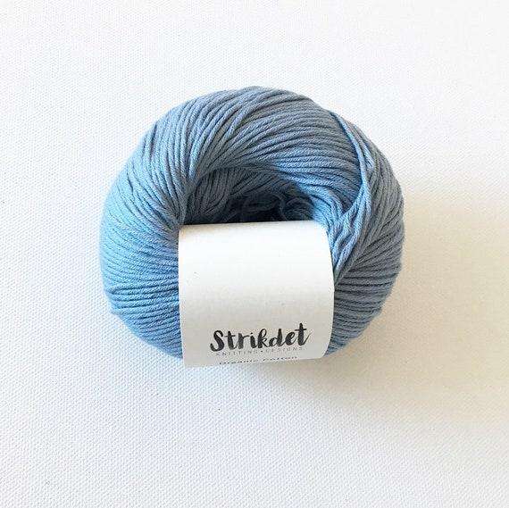 STRIKDET Organic Cotton - ocean blue / Økologisk Bomuld - havblå