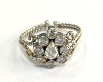 Fabulous! Vintage antique Handmade 14k Gold jewelry Diamond Ring India