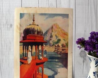 Vintage Print Ulwar, India 1934 // Home Decor // Beautiful Old Print //Cool Vintage Print //Gift//Retro Print