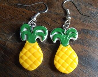 Earrings - pineapple