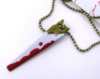 Bloody Saw Necklace