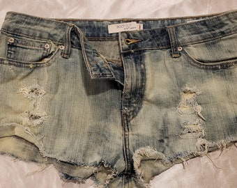 Ripped and Distressed Denim Shorts