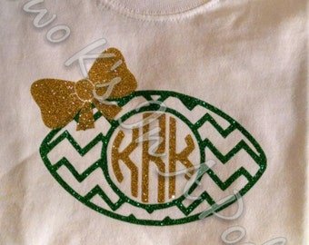 Football Shirt with Bow and Initials