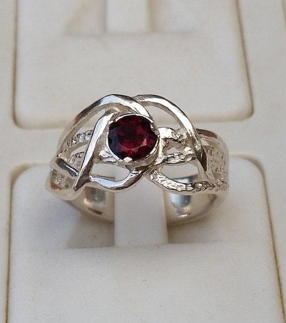 garnet silver ring engagement garnet ring promise silver. Black Bedroom Furniture Sets. Home Design Ideas