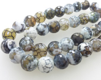 3 Full Strands  8 mm /10mm  Agate Beads , Gemstone Beads , Gemstone Jewelry , Semi Precious Stone Beads ,  Gem Beads , Gem Jewelry