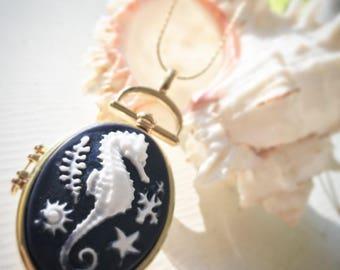 Victorian Style Seahorse Locket