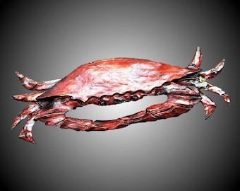 Blue Crab Wall Sculpture Version 1