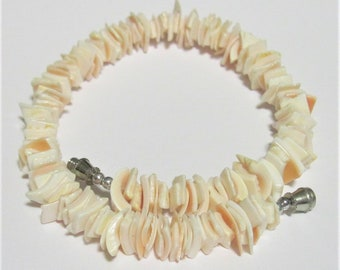 Anklet Pale Coral Shell 10 inch