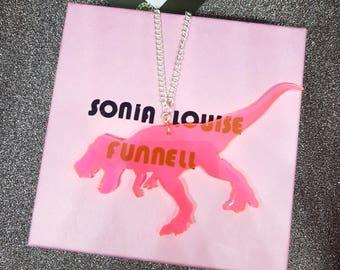 Acrylic Dinosaur Necklace