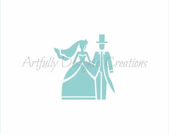 Bride Groom Stencil