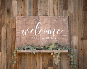 Welcome to our wedding sign Welcome to our Wedding Wood Sign Welcome to our wedding Welcome Wedding Sign Wedding Welcome Sign Welcome to our