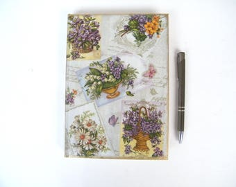 Agenda 2018, Daily Planner 2018, Memo Notebook, A5 Daily Diary, Floral Date Organizer, Multilingual Calendar, OOAK Boss Gift, Coworker Gift