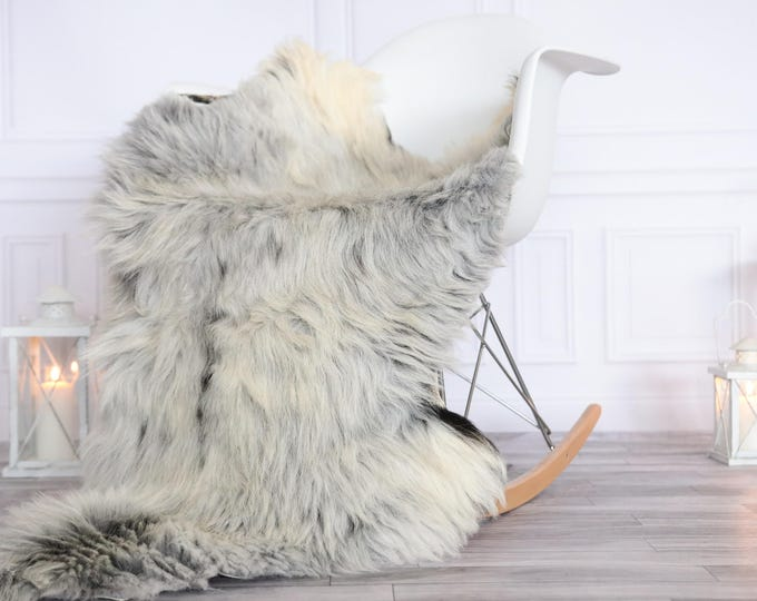 Organic Sheepskin Rug, Real Sheepskin Rug, Gute Sheepskin, Christmas Home Decor, Gray ivory Sheepskin Rug #OCTGUTE13
