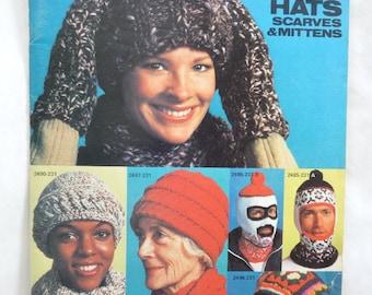 Set of 7 knitting patterns, 1970's.