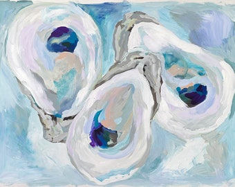 Lapis Lagoon, 13x19 Signed Large Print of Original Acrylic Painting