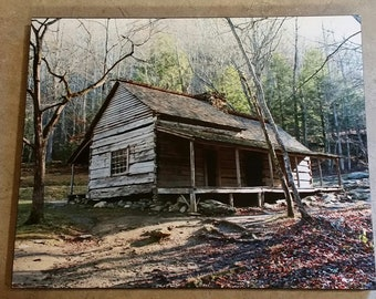 Old Cabin 8x10 Photograph Wood Panel