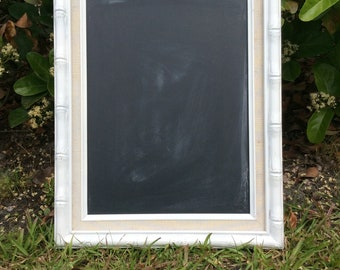 Repurposed Vintage Faux Bamboo Chalkboard Frame