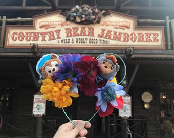 Country Bear Floral Mouse Ears