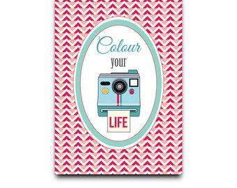 Postcard: color Your Life