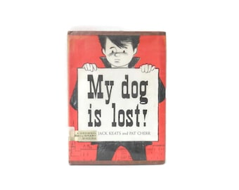 Ezra Jack Keats My Dog is Lost Book w/Original Dust Jacket 1st Edition 9th Printing Crowell Library Binding