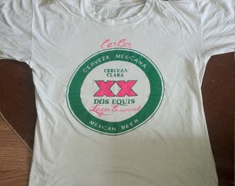 Vintage Mexican beer can cun  t shirt