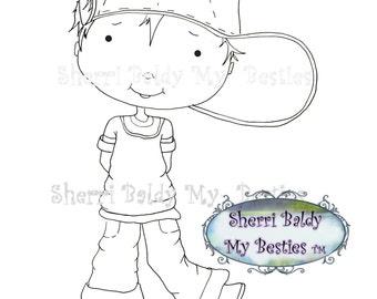 INSTANT DOWNLOAD Digital Digi Stamps Big Eye Big Head Dolls My Besties Pals My Little DimplesBoy 1 By Sherri Baldy
