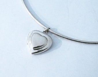 925 silver sterling heart Photo frame pendant