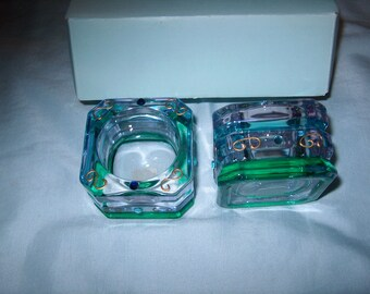 Vintage Partylite Glass Candleholders in Box