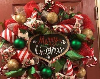 Merry Christmas Wreath Home Decor