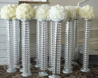 Centerpieces table dcor etsy il set of 10 tall chandelier centerpieces aloadofball Gallery