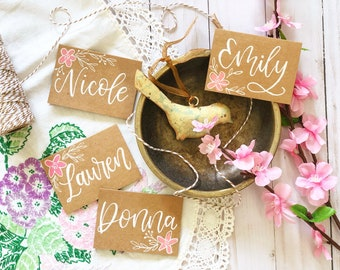 Placecards - Handmade Place Cards - Placecards for Weddings - Placecard Names - Bridal Shower - Rehearsal Dinner - Birthday - Hand Lettering