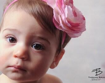 Pink Baby Bows Headband Newborn Headband Infant Headband Toddler Headband Girls Headband Newborn Photography Flower Headband Stretch Bows