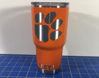 Clemson Tigers Custom Powder Coated Yeti 30oz