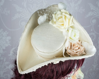 Tricorne hat made to order in fabric of your choice
