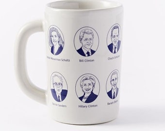 Democratic Hillary & Bill mug