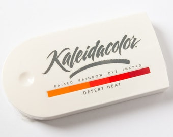 Desert Heat, Kaleidacolor Ink Pad, Rainbow Ink Pad, Multicolor Ink, Warm Colors, Red Tones, Raised Pad