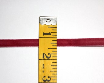 """3/8"""" Velvet Ribbon - Colonial Rose - 5 yards"""