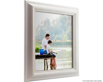 """Craig Frames, 24x36 Inch White Picture Frame, American Classic 1.75"""" Wide (773329002436)"""