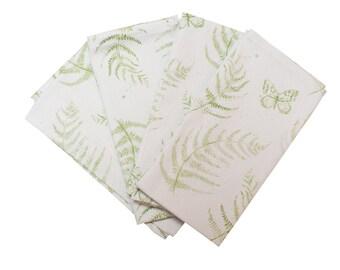 Fern leaf napkins