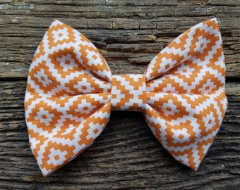 Southwest orange  bowtie, dog bowtie, pet bowtie, tribal dog bowtie, orange bowtie, western bowtie