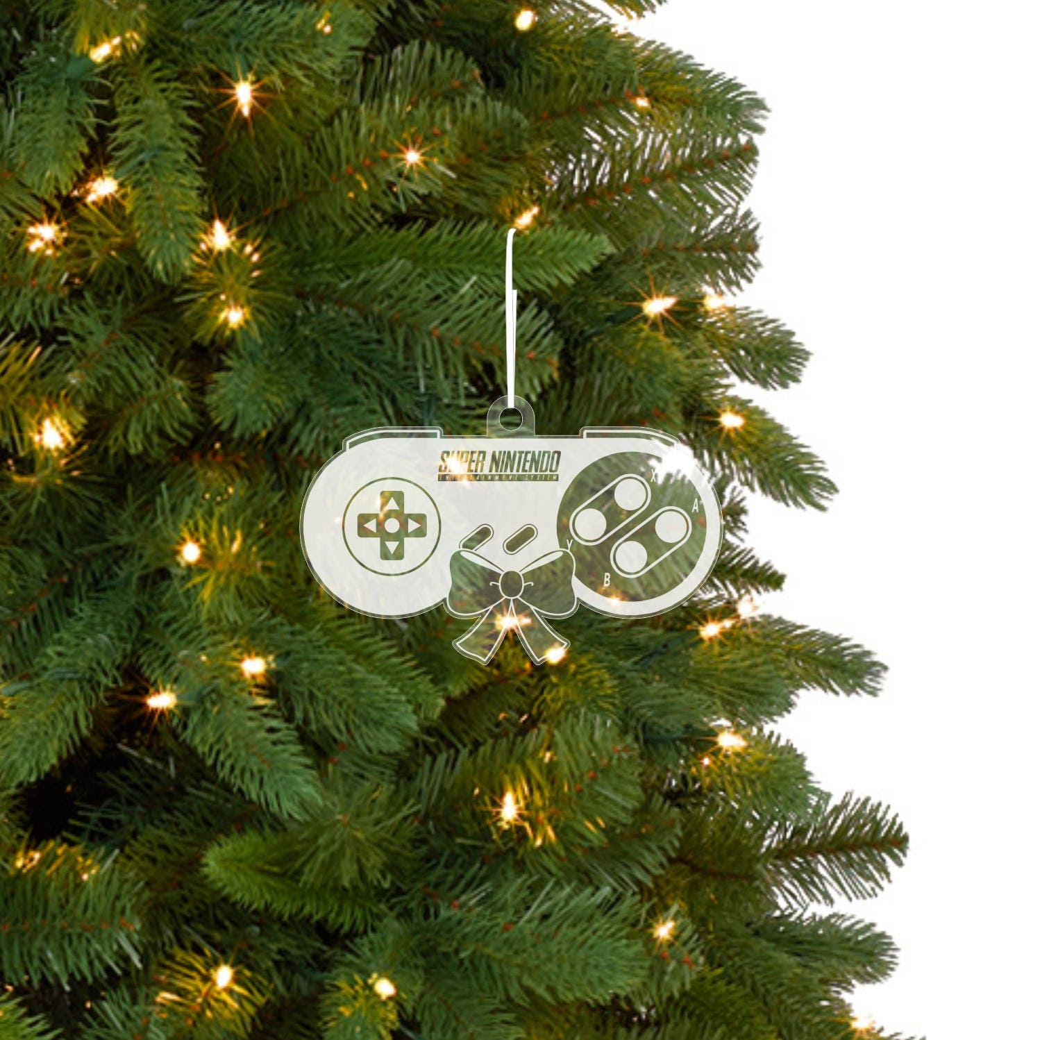 Super Nintendo Christmas Ornaments 2 Styles