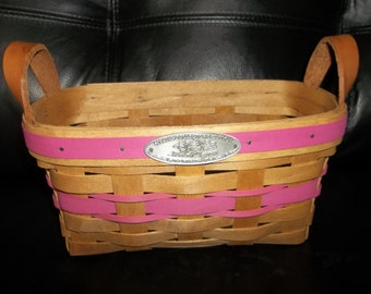 HENN WORKSHOPS Shaker Basket ...New Old Stock...Mohers Day 1993.... Limited Edition