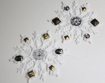 Metallic Embellished Snowflakes
