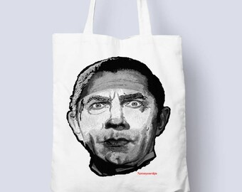 Dracula Tote bag for all those horror occasions (horror,monster tote bag,gift for him,gift for her,werewolf)
