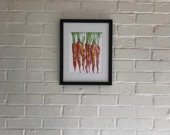 Carrots - Original Print