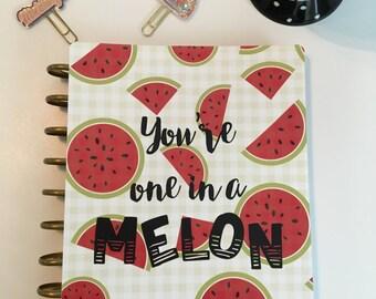 Planner Cover/ Melon/ Fruit/ Summer