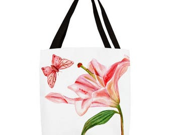 Pink Lilly Tote