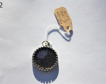 African Purple Spot Butterfly Necklace