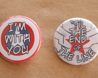 I'm With You...| set of 2 buttons