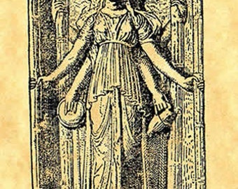 Goddess Hecate Rubber Stamp
